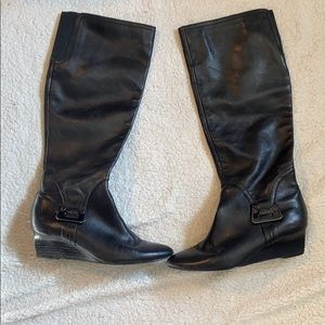 Calvin Klein over the knee black boots